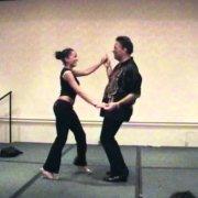 Эдди Торрес и Надя Торрес Мамбо Партнерская работа Конгресс по сальсе в Нью-Йорке 2004