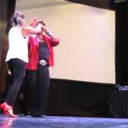 Eddie Torres & Shani Talmor salsa en pareja con música 11-07-2014 Benidorm