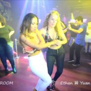 LINDA SAENZ & SAVANNAH BAILEY Bachata Социальный танец в зале SALSA